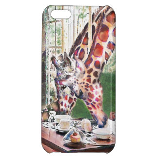 giraffes for tea iphone case iPhone 5C case