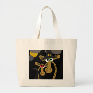 Giraffes Halloween party Large Tote Bag