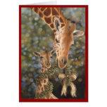 Giraffes Holiday Card