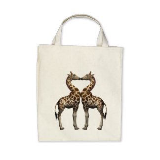 Giraffes In Love Bags