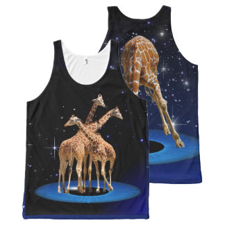 GIRAFFES IN SPACE All-Over PRINT SINGLET
