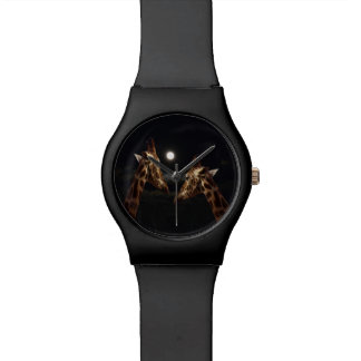 Giraffes In The Moonlight, Ladies Black May Watch. Wristwatches