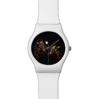 Giraffes In The Moonlight, Ladies White May Watch. Watch