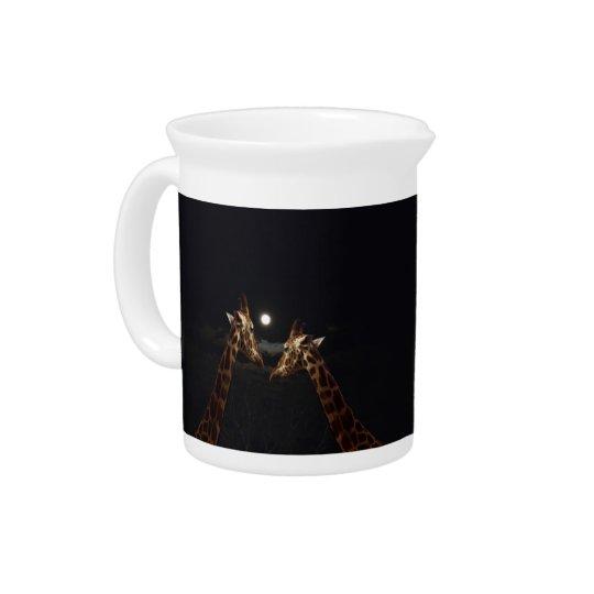 Giraffes_In The Moonlight._Milk_Jug Pitchers
