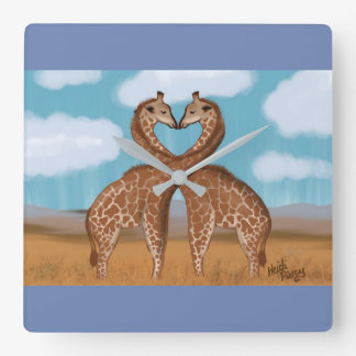 Giraffes Love Clocks