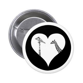 Giraffes Love Cranes Pinback Button