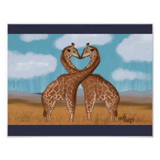 Giraffes Love Posters