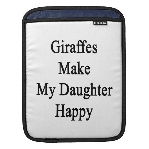 Giraffes Make My Daughter Happy iPad Sleeve