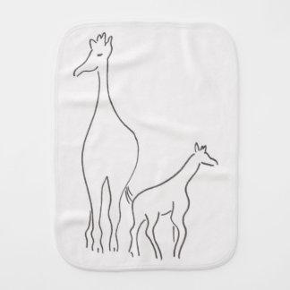 Giraffes - Mommy and Baby - Burp Cloth