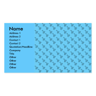 Giraffes on blue pattern pack of standard business cards