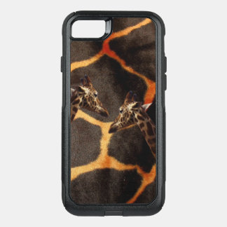 Giraffes On Exotic Giraffe Background, OtterBox Commuter iPhone 8/7 Case