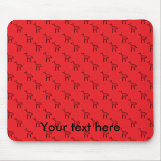 Giraffes on red pattern mouse pad
