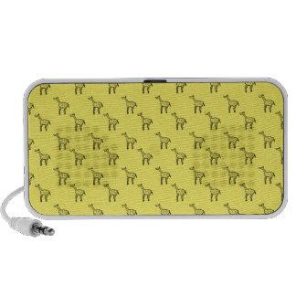 Giraffes on yellow iPhone speaker