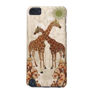 Giraffes Orange Blossom iPod Case iPod Touch 5G Cases