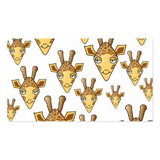 Giraffes Pattern. Pack Of Standard Business Cards
