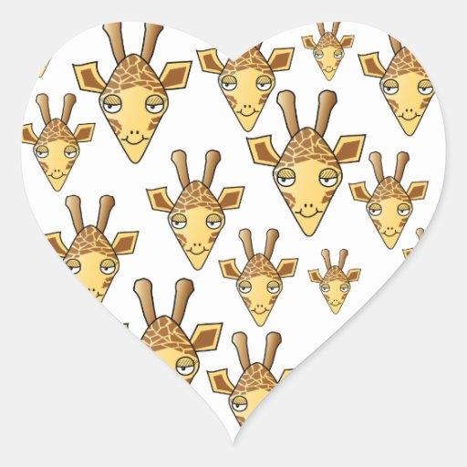 Giraffes Pattern. Stickers