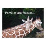 giraffes rubbing necks, Families are forever... Custom Invite