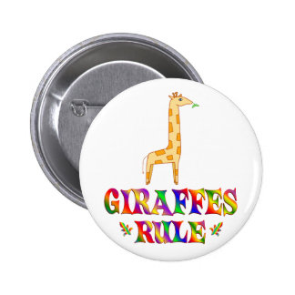 Giraffes Rule 6 Cm Round Badge