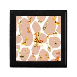 Giraffes Small Square Gift Box