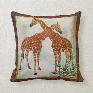 Giraffes Tropical Boho Mojo Pillow