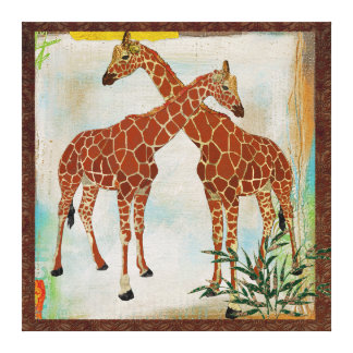 Giraffes Tropical Canvas Stretched Canvas Prints