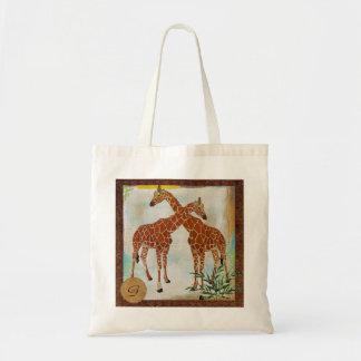 Giraffes Tropical Monogram  Bag