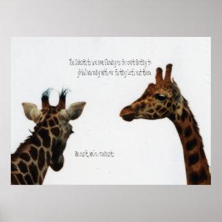 giraffes vs scientists posters