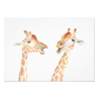 Giraffes Watercolor Photo Print