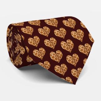 Giraffic Hearts Tiled Pattern Tie