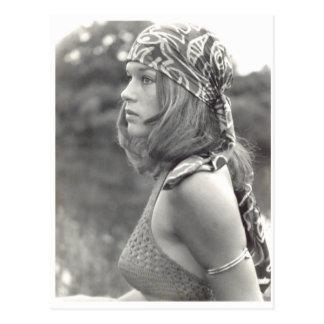 Girl 1970 postcard