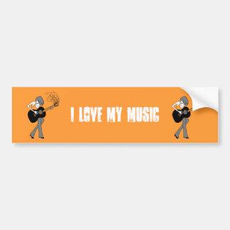 Girl & a Guitar Bumper Sticker (BSt26)