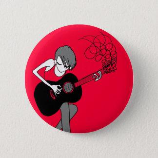 Girl and a Guitar Button (BU24)