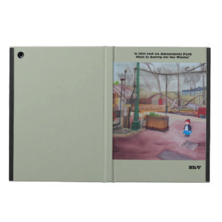 """Girl and Amusement Park..."" iPad Air Case"
