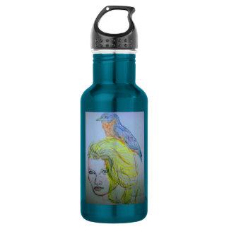 Girl and Bird 532 Ml Water Bottle
