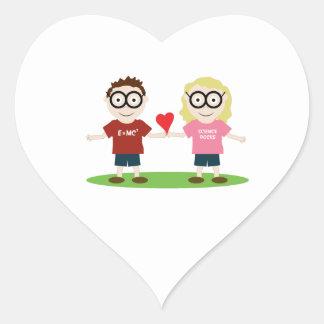 Girl and Boy Geek Heart Sticker