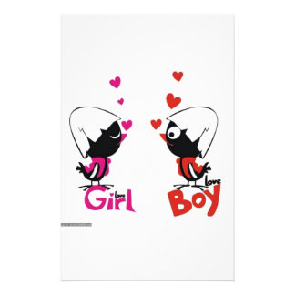 Girl and boy love personalised stationery