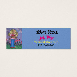 girl and cat business card