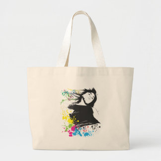 Girl and Colors Jumbo Tote Bag