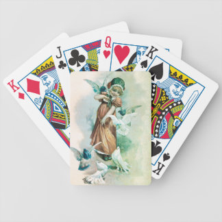 GIRL AND DOVES BICYCLE PLAYING CARDS