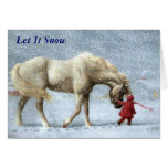 Girl and Horse Christmas Card