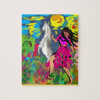 Girl and horse jigsaw puzzle