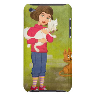 Girl and the funny Doggy iPod case iPod Case-Mate Cases