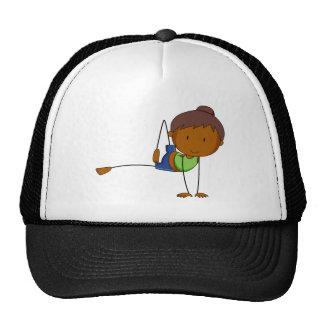 Girl and yoga cap