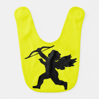 Girl Angel Yellow Baby Bib