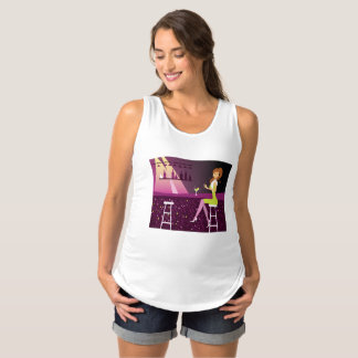 Girl at Nightclub Maternity Tank Top T-Shirt
