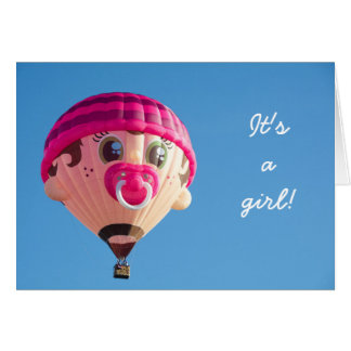 Girl Baby Balloon Card