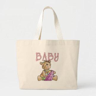 Girl Baby Bear Jumbo Tote Bag