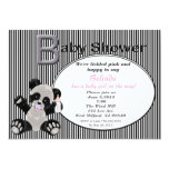 Girl Baby Panda Baby Shower Invitation