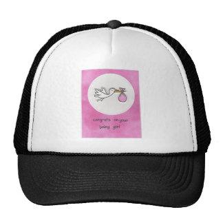 Girl baby shower cap
