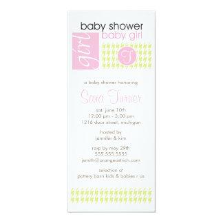 Girl Baby Shower Invitation - Trendy